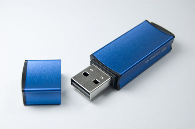 Флеш накопитель USB 2.0 Goodram Edge UEG2, металл, синий, 8Gb